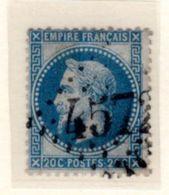 Jura : GC 4572 BOIS D'AMONT  Sur Yt 29 - 1849-1876: Classic Period
