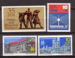 DDR , 1976 , Mi.Nr. 2161 , 2162 , 2169 , 2170 ** / MNH - Neufs