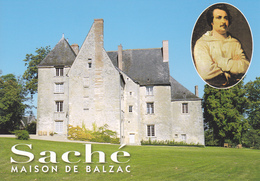 37 SACHE / MAISON ET PORTRAIT DE BALZAC - France