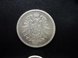 ALLEMAGNE : 1 MARK  1881 A  KM 7    TB+ / TTB - [ 2] 1871-1918: Deutsches Kaiserreich
