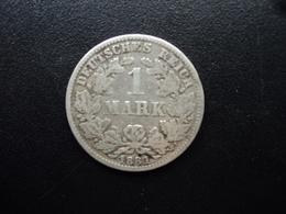ALLEMAGNE : 1 MARK  1881 E  KM 7    TB / TB+ - [ 2] 1871-1918: Deutsches Kaiserreich