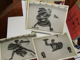 Lot De 3 Photos.orig. Sculptures De Mario Gambetta.tirage Argentique 1940 - Fotos