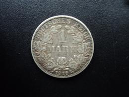 ALLEMAGNE : 1 MARK  1910 A  KM 14   TTB - [ 2] 1871-1918: Deutsches Kaiserreich