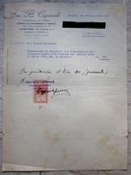 FATTURA DITTA CAPORALE FABBRICA DI MOBILI TRIPOLI D'AFRICA ANNO 1931 CEMT. 10 COLONIE ITALIANE LIBIA - Fatture & Documenti Commerciali