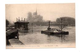 75 - PARIS . INONDATIONS DE PARIS 1910 . LE QUAI MONTEBELLO - Réf. N°7990 - - Inondations De 1910