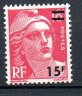 MARIANNE DE GANDON:  15F/18F Rose-carmin N° 968** - 1945-54 Marianne De Gandon