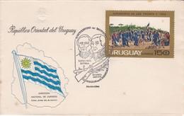 URUGUAY-ENCUENTRO DEL MONZON. LAVALLEJA RIVERA. MONTEVIDEO.-FDC-TBE-BLEUP - Uruguay
