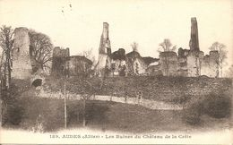 03 Allier  : Audes Les Ruines Du Château Des La Crête Réf 3903 - Otros Municipios