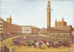 V2406 Siena - Il Palio - Illustrazione Illustration Mai Marcello / Viaggiata 1955 - Siena