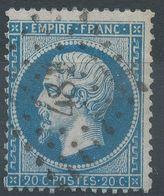 Lot N°41595  Variété/n°22, Oblit PC 481 Bourges, Cher (17), Filets NORD Et EST, Piquage - 1862 Napoléon III
