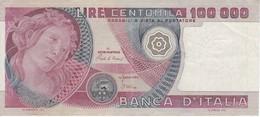 BILLETE DE ITALIA DE 100000 LIRAS DEL AÑO 1980 SERIE NA DE ARMENTI (BANKNOTE) - [ 2] 1946-… : República