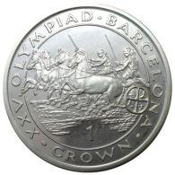 Ref. 1103-1245 - COI GIBRALTAR . 1989. 1 CROWN 1989 GIBRALTAR OLYMPIADA BARCELONA 1992 - Gibraltar