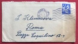 FRANCIA  4f. SU BUSTA DA TOURS A ROMA IN DATA 26/10/45 - Storia Postale
