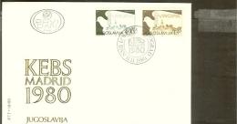 1980 - Europe KSZE FDC Jugoslavia Mi.1857-1858 [JS027_04] - Europa-CEPT