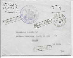 """1940 - ENVELOPPE FM Du FTA N°7 à BESANCON (DOUBS) => THANN - """"TROUVE à LA BOITE"""" - Poststempel (Briefe)"""