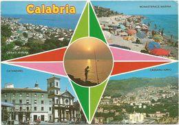 V2412 Calabria - Catanzaro - Cariati Marina - Monasterace Marina - Cassano Ionio - Multipla / Non Viaggiata - Italie