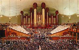 Ref X67- Etats Unis D Amerique - Usa -interior Of Mormon Tabernacle ; Temple Square , Salt Lake City , Utah  - - Salt Lake City