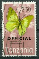 BM Tansania Dienstmarke 1973 | MiNr 25 | Used | Schmetterlinge - Tansania (1964-...)