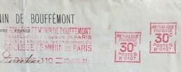FRANCIA  COLLEGE FEMININ DE BOUFFEMONT PARIS 30/7/31 ANNULLO TARGHETTA ROSSA 30 + 30  Busta Per ROMA - Francia