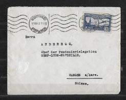 1933 POSTE AERIENNE → Brief Von Marseille Nach Wangen A.Aare - Luftpost