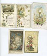 Souvenirs De Première Communion Lot De 5 ( Images Pieuses) - Communion