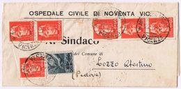 Piego Ospedaliero Noventa Vicentina -> Lozzo Atestino   Viaggiato 7/1946 - 1946-.. République