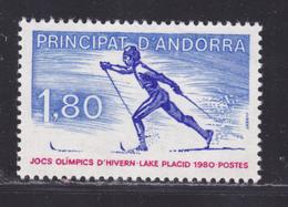 ANDORRE N°  283 ** MNH Neuf Sans Charnière, TB (D5662) Sport, Ski, Jeu Olympique D'hiver Lake Placid - Nuevos