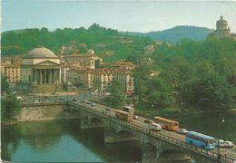 V2419 Torino - Ponte Vittorio Emanuele I - Chiesa Gran Madre Di Dio - Auto Cars Voitures Bus Autobus / Viaggiata 1987 - Ponti