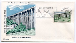 RC 7803 FRANCE FDC ENVELOPPE 1er JOUR VIADUC DE CHAUMONT 1960 - 1960-1969