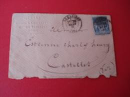 1881 Enveloppe De La Cadiere Pour Le Castellet En Surimpression Cachet Notaire La Cadiere Var - 1877-1920: Période Semi Moderne