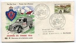RC 7806 FRANCE FDC ENVELOPPE 1er JOUR 2CV CITROEN VOITURE AUTOMOBILE 1958 - Auto's