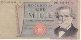 BILLETE DE ITALIA DE 1000 LIRAS DEL AÑO 1980 DE VERDI  (BANKNOTE) - [ 2] 1946-… : République