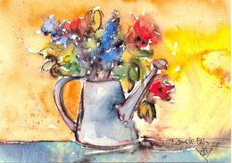 Renate Otto : Coming From Garden - Ecrite, Timbrée - 5337 - Pintura & Cuadros