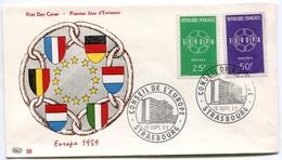 RC 7813 FRANCE FDC ENVELOPPE 1er JOUR EUROPA 1959 - 1959