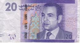 BILLETE DE MARRUECOS DE 20 DIRHAMS DEL AÑO 2012  (BANKNOTE-BANK NOTE) - Marruecos