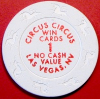 $1 Casino Chip. Circus Circus, Las Vegas, NV. NCV. L86. - Casino