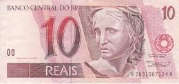 BILLETE DE BRASIL DE 10 REAIS DEL AÑO 1997 DE UN LORO-PARROT-BIRD-PAJARO     (BANKNOTE) - Brasil