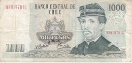 BILLETE DE CHILE DE 1000 PESOS DEL AÑO 2005 (BANK NOTE) - Chile