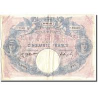 France, 50 Francs, 50 F 1889-1927 ''Bleu Et Rose'', 1923, 1923-11-10, TB+ - 1871-1952 Anciens Francs Circulés Au XXème