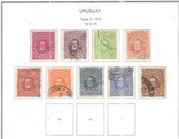 Uruguay PO 1912/15 Tipo 1910 Artigas Scott.199/207 Used See Scans On Scott.Page - Uruguay
