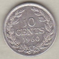 Liberia, 10 Cents 1960. Argent .KM# 15 - Liberia