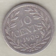 Liberia, 10 Cents 1906 . Argent .KM# 7 - Liberia