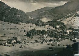 """GSTAAD ( Canton De Berne  -  Suisse  ) Hotel -Pension  """"  NEUERET  """"  Angles Coupés  (  CPsm, Dentelée  N Et B  ) - Svizzera"""