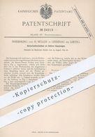 Original Patent - Frederking U. H. Müller , Leipzig / Lindenau , 1885 , Sicherheitsscheiben An Sellers - Kupplungen !! - Historische Dokumente