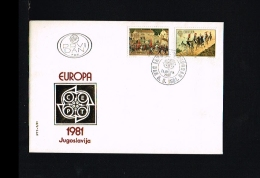 1981 - Europe CEPT FDC Jugoslavia [EY029] - Europa-CEPT