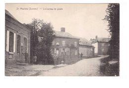 80 St Saint Maulvis Le Bureau De Poste PTT Cpa Animée - Autres Communes
