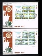 1977 - Europe CEPT FDC Malta Mi.554-555 - 2 Minisheets [D18_006] - Europa-CEPT