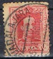 Sello 25 Cts Alfonso XIII Vaquer, Fechador GUADALAJARA, Num  317A º - Usati