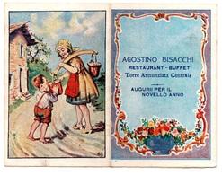 "1926  - Calendario Tascabile Pieghevole  "" Agostino Bisacchi "" Restaurant - Buffet    Torre Annunziata Centrale - Petit Format : 1921-40"