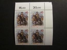 Berlin Nr. 628 Viererblock Eckrand Postfrisch**  (C50) - Ungebraucht